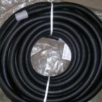 Шланг для полива гофрированный с наконечником, 25м. (черный)